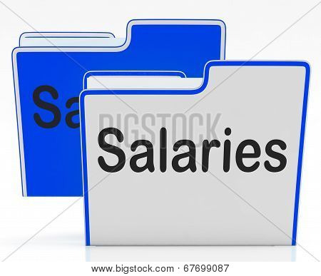 Salaries Files Represents Wage Employees And Folder