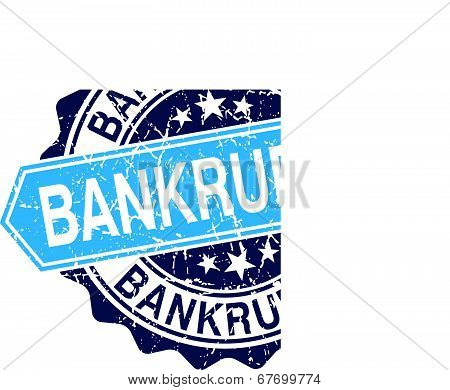 Bankruptcy Grungy Stamp Isolated On White Background