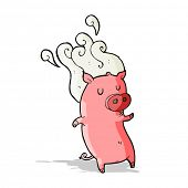 picture of smelly  - smelly cartoon pig - JPG