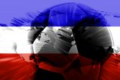 Flag Of Serbia And Montenegro Soccer poster