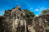 picture of polonnaruwa  - Historical Polonnaruwa capital city ruins in Srilanka - JPG