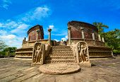 stock photo of polonnaruwa  - Historical Polonnaruwa capital city ruins in Srilanka - JPG