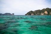 stock photo of phi phi  - Beautiful scenic coastline of Phi Phi Island in Thailand - JPG