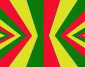 stock photo of rasta  - Red yellow green rasta flag for background - JPG