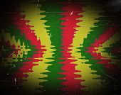 image of rasta  - Red yellow green rasta flag for background - JPG