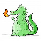 foto of fire-breathing  - cartoon fire breathing dragon - JPG