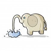 pic of squirt  - cartoon elephant squirting water - JPG