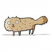 cartoon furry cat poster