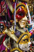 foto of venice carnival  - Typical colorful mask from the venice carnival Venice Italy - JPG