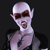pic of gothic female  - Digital 3D Illustration of a Gothic Female - JPG