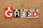stock photo of sinful  - The word Greed - JPG
