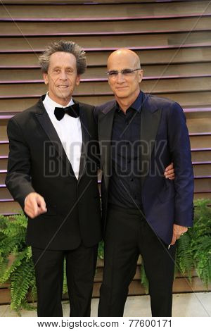 LOS ANGELES - MAR 2:  Brian Grazer, Jimmy Iovine at the 2014 Vanity Fair Oscar Party at the Sunset Boulevard on March 2, 2014 in West Hollywood, CA