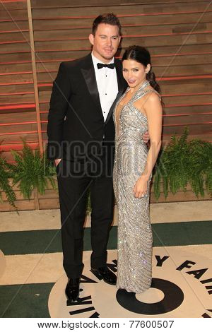 LOS ANGELES - MAR 2:  Channing Tatum, Jenna Dewan-Tatum at the 2014 Vanity Fair Oscar Party at the Sunset Boulevard on March 2, 2014 in West Hollywood, CA