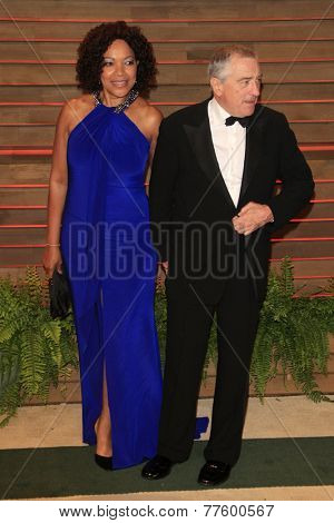LOS ANGELES - MAR 2:  Grace Hightower, Robert De Niro at the 2014 Vanity Fair Oscar Party at the Sunset Boulevard on March 2, 2014 in West Hollywood, CA