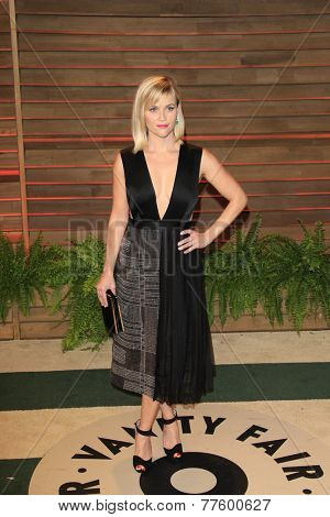 LOS ANGELES - MAR 2:  Reese Witherspoon at the 2014 Vanity Fair Oscar Party at the Sunset Boulevard on March 2, 2014 in West Hollywood, CA