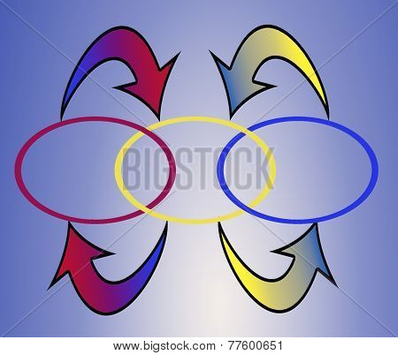 Colorful Arrows And Ovals