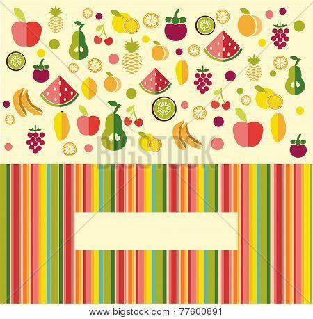Fruits Background - Illustration