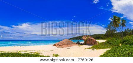 Panorama Of Tropical Beach