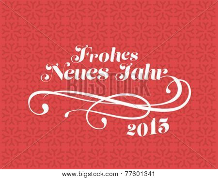 Digitally generated German new year vector on red pattern