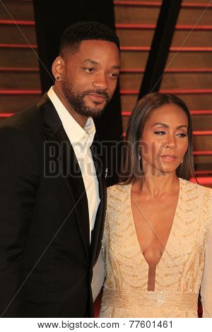 LOS ANGELES - MAR 2:  Will Smith, Jada Pinkett Smith at the 2014 Vanity Fair Oscar Party at the Sunset Boulevard on March 2, 2014 in West Hollywood, CA