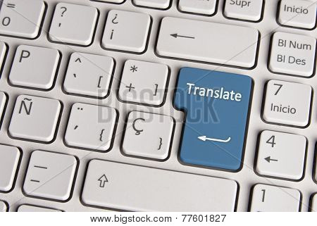 Language Concept, Translate Keyboard Key.