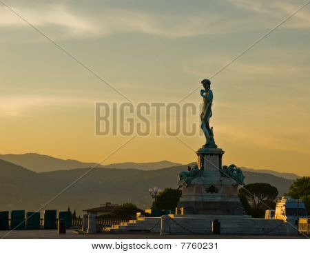 Dawn at Piazzale Michelangelo With David