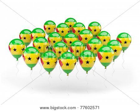 Balloons With Flag Of Sao Tome And Principe