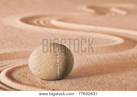 zen meditation stone sheng fui buddhism spiritual japanese rock garden abstract harmony and balance concept for purity concentration spa relaxation sand