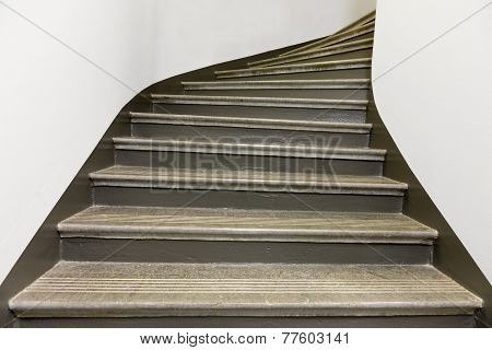 Empty Stone Staircase