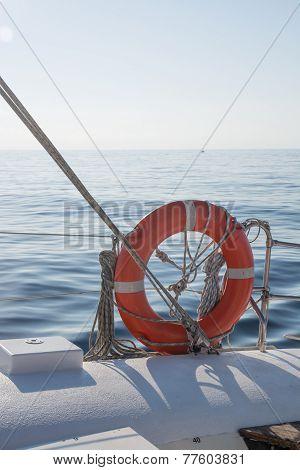 Life Preserver On Boat