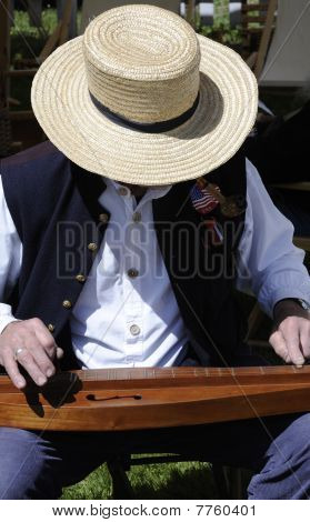 Civil War Actor Playing Dulcimer
