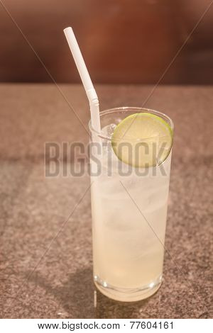Glass Of Ice Lemon Juice