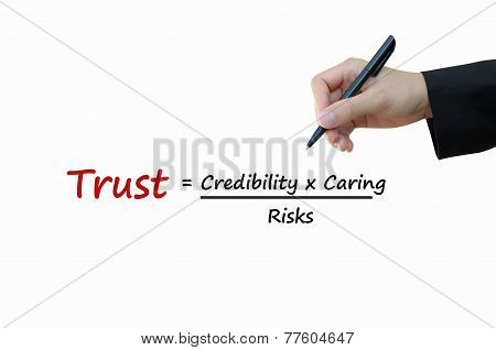 Trust of business concept