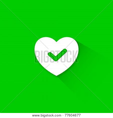 Green good heart icon