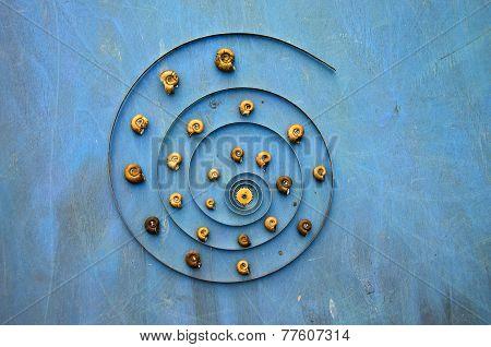 Big Clock Spring Spiral And Snail Shells Concept