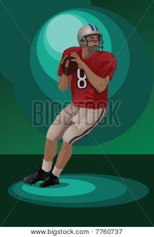 A Quarterback Making A Pass