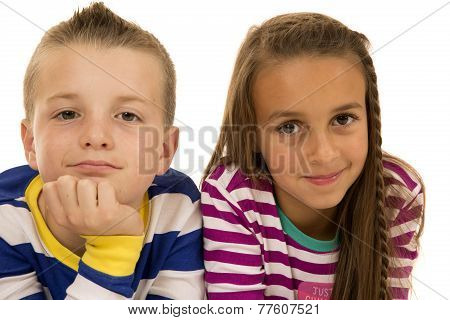 Boy And Girl Laying Down For A Casual Portrait