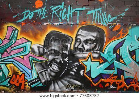 Mural in memory of Eric Garner at East Williamsburg in Brooklyn