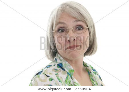 Mature Woman With Humorous Expression