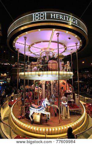 Christmas fair in Kowloon, Hong Kong