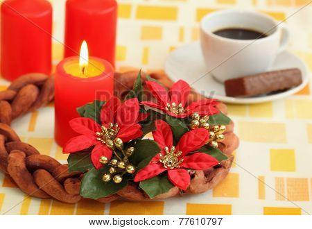 Poinsettia Advent Wreath
