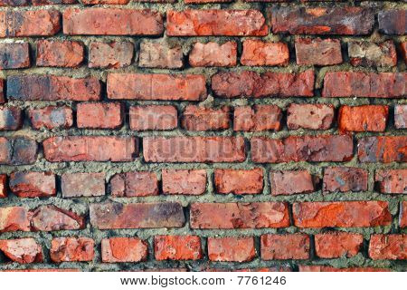 Old Dilapidated Brick Wall - Background