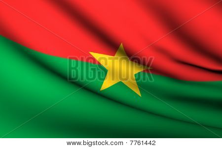 Flying Flag Of Burkina Faso | All Countries Collection |