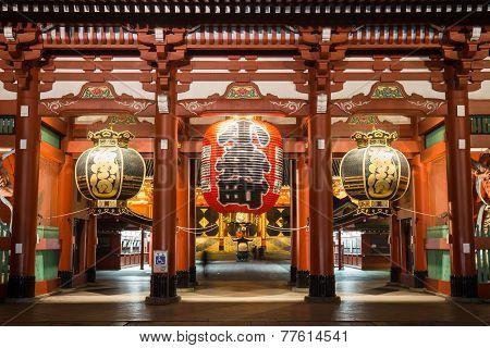Night Time Senso-ji Temple, Asakusa, Tokyo, Japan