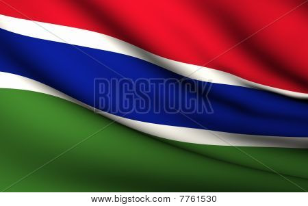 Flying Flag Of Gambia | All Countries Collection |