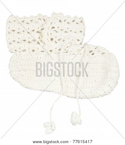 Baby's Booties Isolated On White