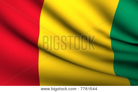 Flying Flag Of Guinea Bissau | All Countries Collection |
