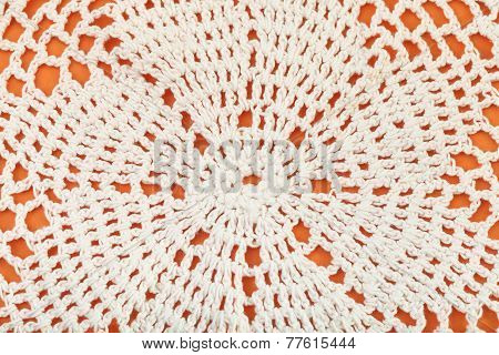 Ornament Of Lace Placemat Embroidered By Crochet