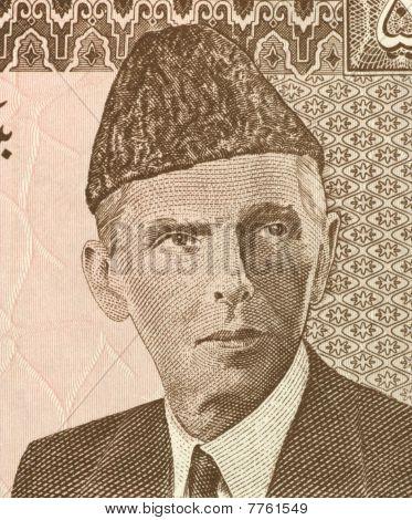 Pakistan - Circa 1984: Mohammed Ali Jinnah