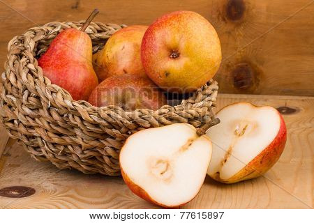 Pears in Basket still life